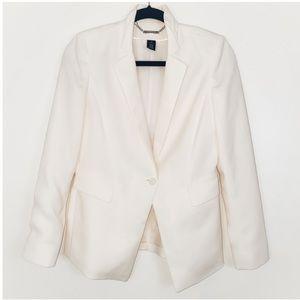 White House Black Market Ivory Blazer